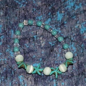 Teal and green Beach style bracelet